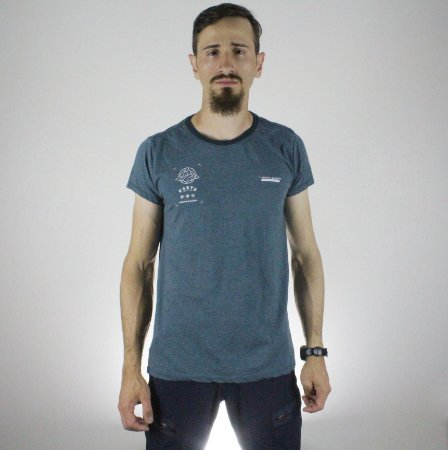 Camiseta Slim Fortù Coordenadas Azul