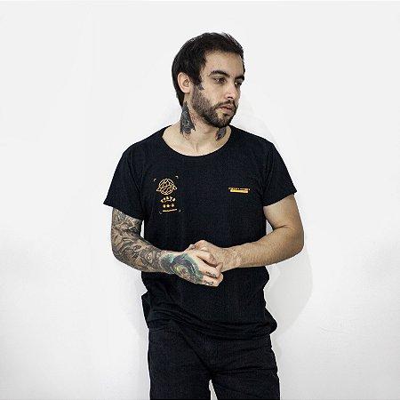 Camiseta Slim Fortù Coordenadas Preta