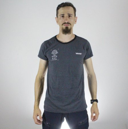 Camiseta Slim Fortù Coordenadas Mescla