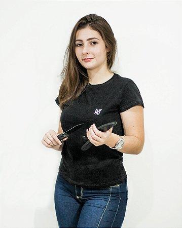 Camiseta Slim Feminina Preta