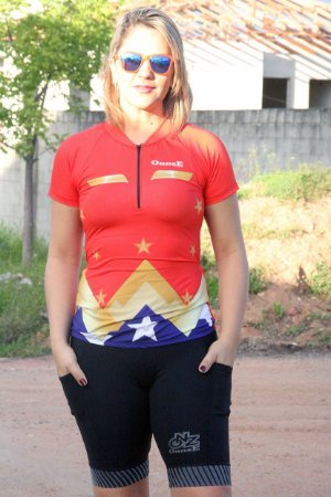camisa ciclista feminina Wonderful