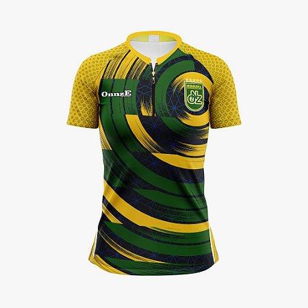 camisa ciclismo baby look brasil