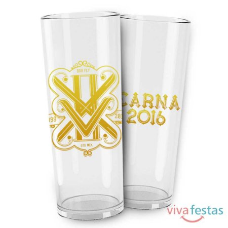 Copo Long Drink Personalizado em Serigrafia com 350ml - Cor Cristal