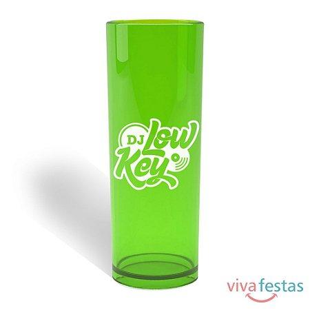 Copo Long Drink Personalizado  com 350ml - Cor Verde Translúcido