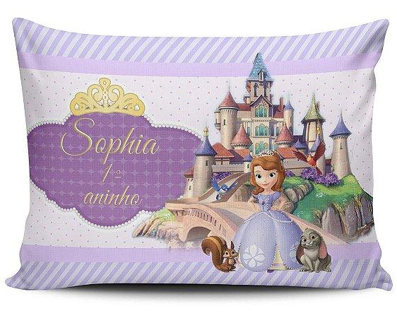 Almofada 20x32cm Personalizada Princesa Sophia - Enchimento Anti Alérgico