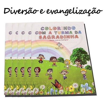 Revista Colorindo com a Sagradinha (Brinde giz de cera)