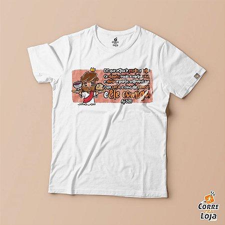 T-Shirt BRANCA-Estou a Porta