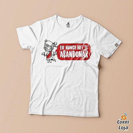 T-Shirt BRANCA-Nunca Irei