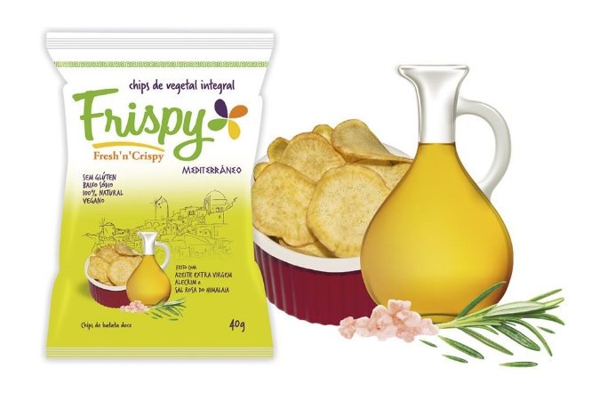 Mediterrâneo Chips De Batata Doce 40g - Frispy