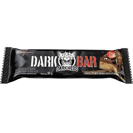 Barra de Proteína Sabor Choc meio Amargo C/ castanhas Darkness 90g INTEGRALMEDICA