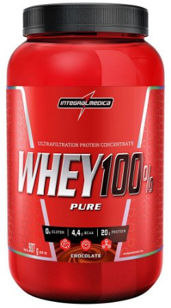 Whey 100% Pure Sabor Chocolate 907g INTEGRALMEDICA