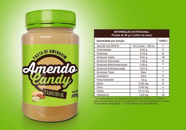 Pasta de Amendoim Tradicional 360g Amendo Candy