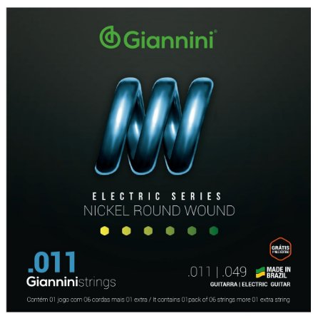 Encordoamento Cordas Para Guitarra Níquel 011 0.11 Giannini