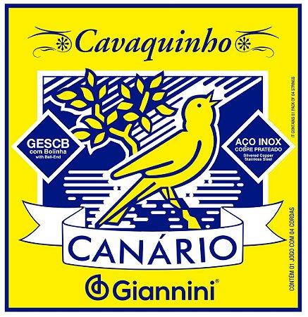 Encordoamento Cordas para Cavaco Cavaquinho Canário Giannini