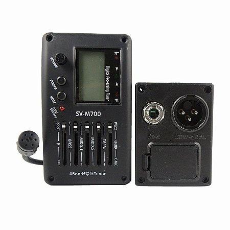 Captador e Equalizador 5 Bandas Para Violão Nylon ou Aço - SVM700