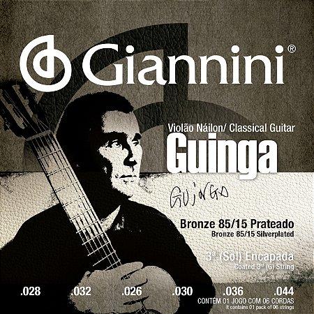 ENCORDOAMENTO PROFISSIONAL GUINGA NAILON/BRONZE 85/15 (3º CORDA REVEST)