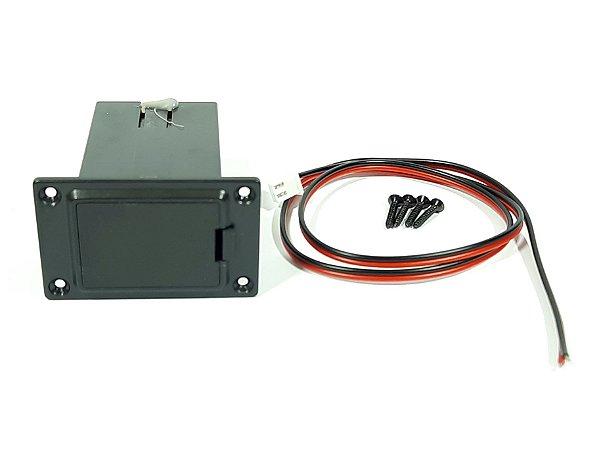 Box Caixa de Bateria 9V para Instrumentos Musicais