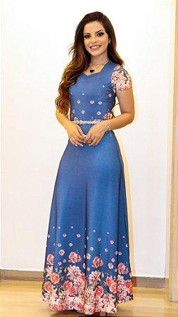 Vestido Longo Kely estampado - Celestial Moda Evangélica - Moda ... e60cc8ffdd492