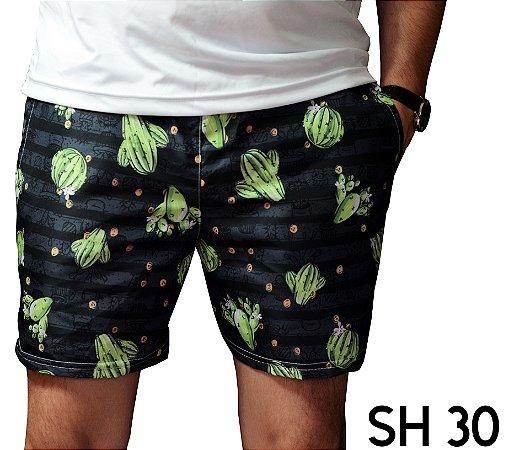 Short Praia Masculino Moda 2019 Cactus