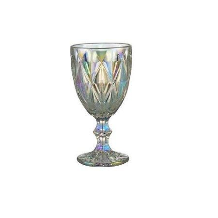 Taça para Agua de Vidro Furta cor Diamond Rainbow 325 ml - Lyor