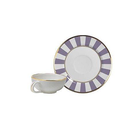 Xícara de Café Lavender Strip