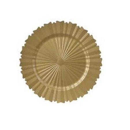 Sousplat Decorativo Dourado