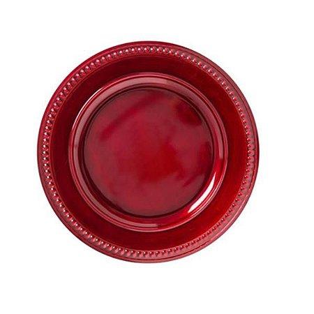 Sousplat Galles Dots Rouge Antique