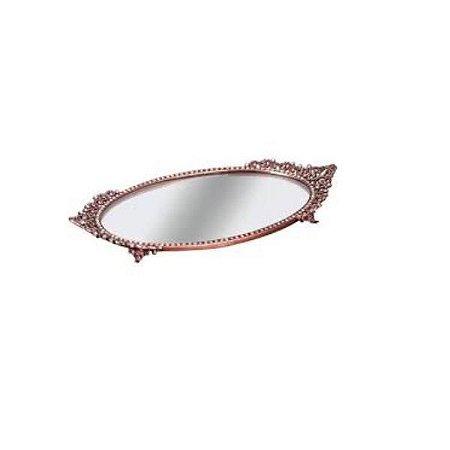 Bandeja Oval Bronze com Espelho