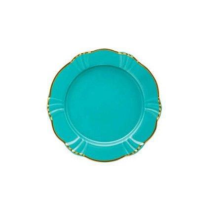 Jogo com 6 Pratos de Sobremesa de Porcelana Soleil Aurora