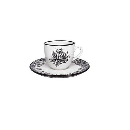 Xicaras de Chá de Porcelana Floresta Negra
