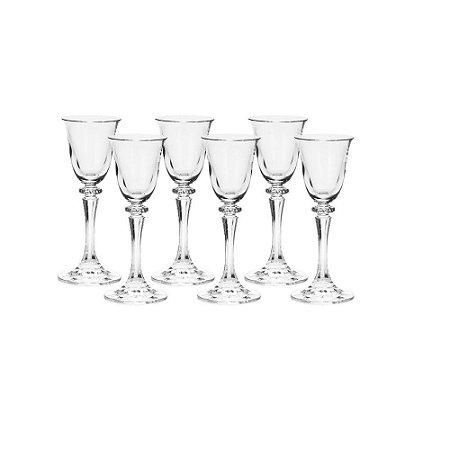 Conjunto com 6 Taças para Licor Kleopatra Branta Transparente 50 ml
