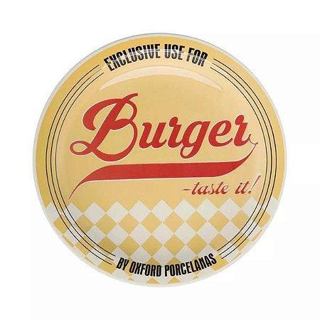 Prato Raso Burger 26cm Amarelo