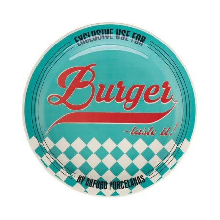 Prato Raso Burger 26cm Azul