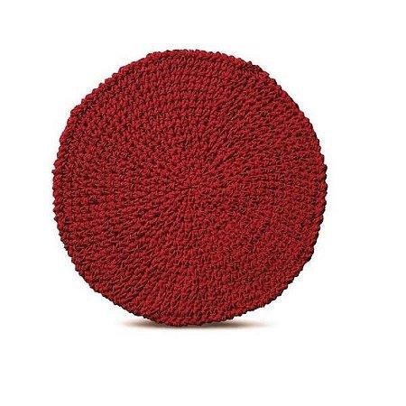 Lugar americano papier vermelho carmin