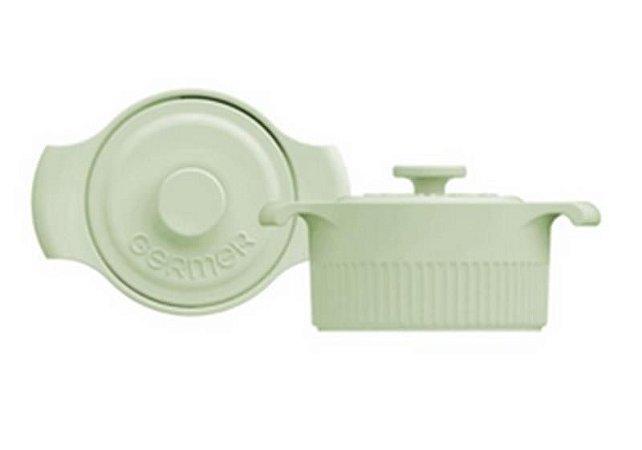 Mini Panelinha Cocotte Porcelana Verde Menta 35