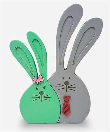 Casal coelhos 24 cm