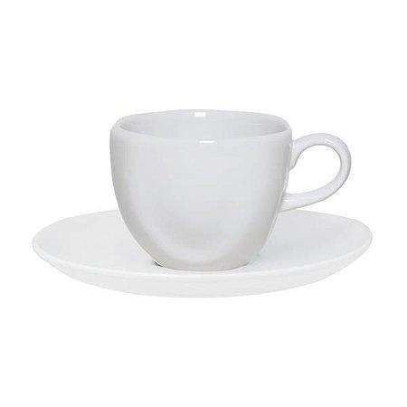 Xícara de Chá 220ml com Pires Ryo White  - Oxford