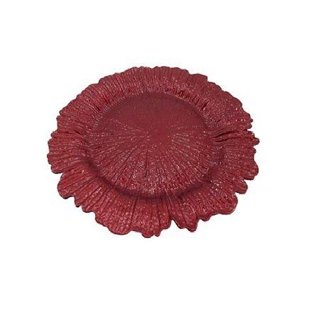 Sousplat Decorativo Flor Vermelha - D&A