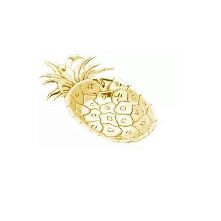 Bandeja de Abacaxi Dourado de Zamac- Lyor
