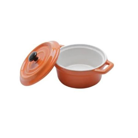 Mini Caçarola de Porcelana Laranja - Bon Gourmet
