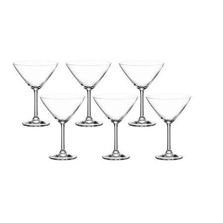 Conjunto 6 Taças para Martini em Cristal 280ml - Wolff