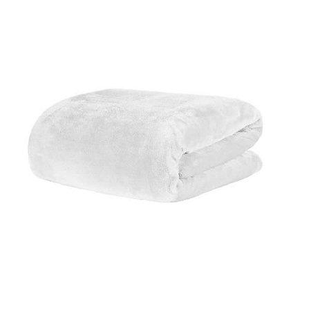 Cobertor Blanket Queen Branco 2,20m x 2,40m - Kacyumara