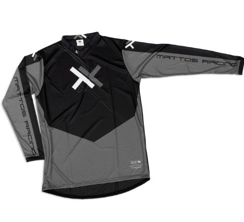 Camisa Motocross Cross Trilha Cinza Atomic Mattos Cinza