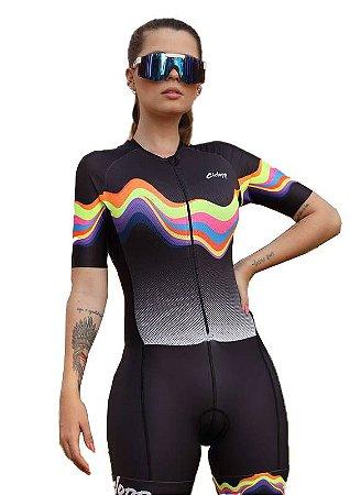 Macaquinho Ciclismo Feminino STROKE Ciclopp Bike Preto MGC