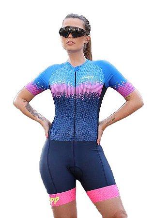 Macaquinho Ciclismo Feminino INNOVARE Ciclopp Bike Azul MGC