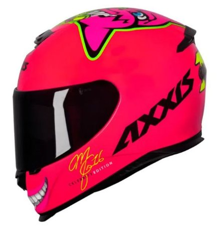 Capacete Axxis Eagle Celebrity Edition Mariany Rosa Flou