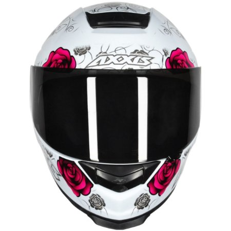 Capacete Axxis Eagle Flowers - Branco/Rosa