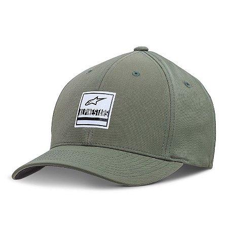 Boné Alpinestars Stated Flexfit - Verde Militar/Branco