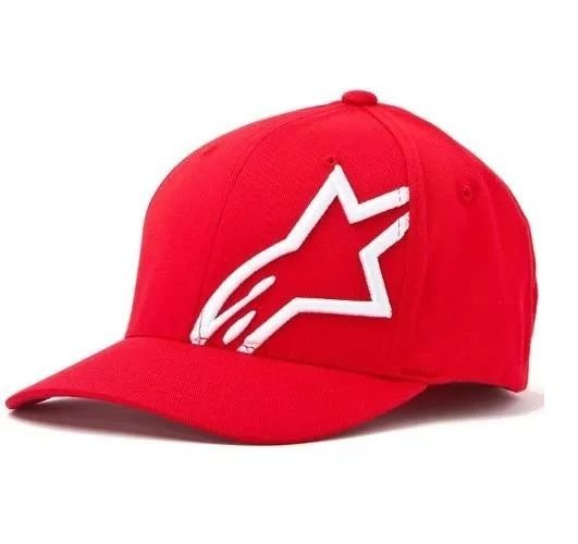 Boné Alpinestars Corp Shift 2 FlexFit - Vermelho/Branco