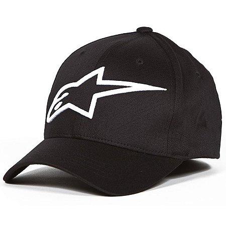 Boné Alpinestars Logo Astar Black White Original Flex Fit